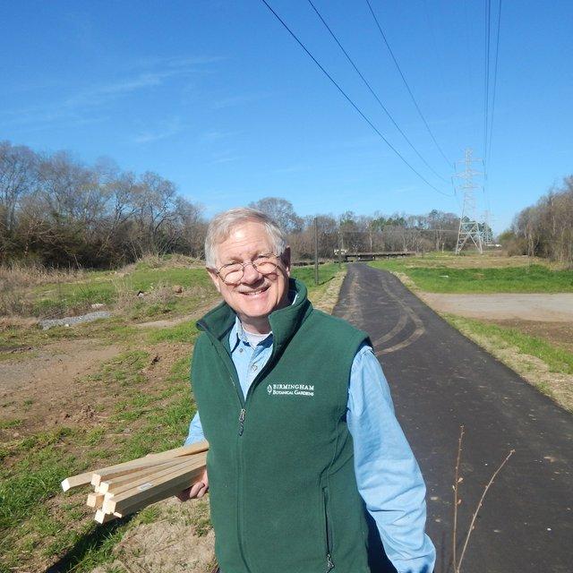 Dr. Henry Hughes of BBG_South Pratt tree planting 3-4-17.JPG