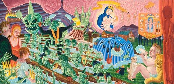 David Sandlin painting