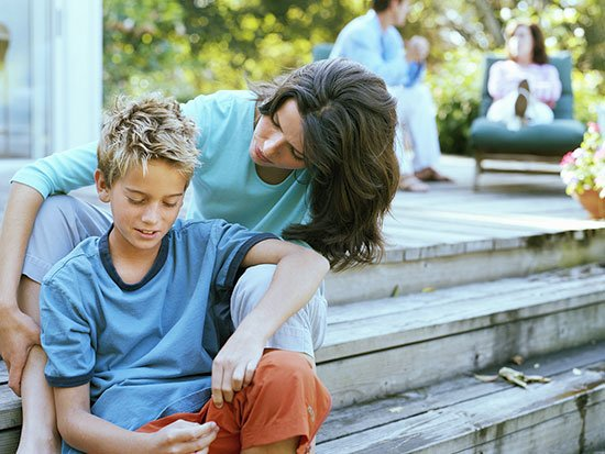mother with son stock image