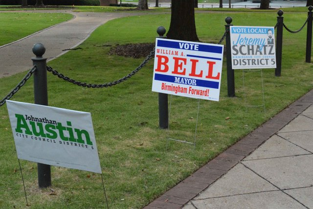 signs election day 2017