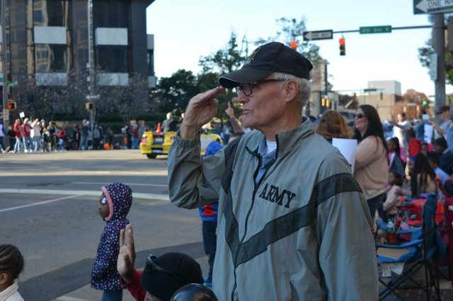 A solemn salute