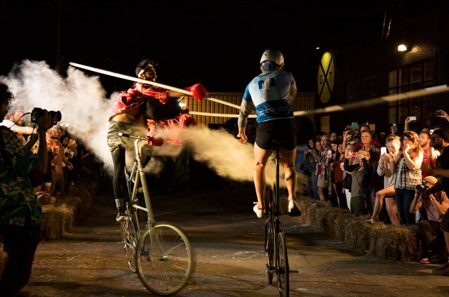 Tall Bike Jousting