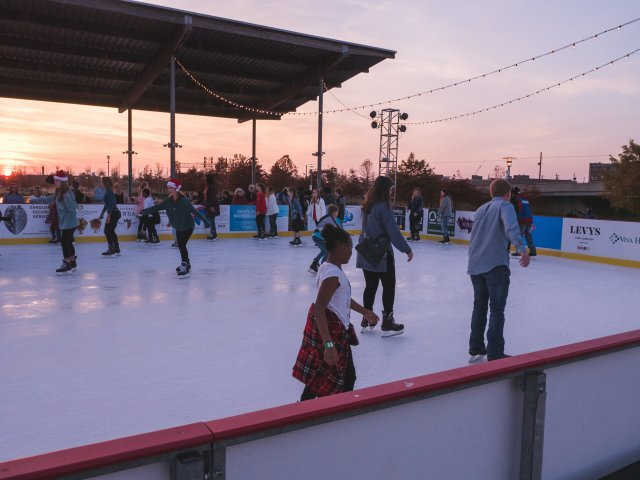 Railroad Park ice rink