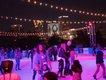 Railroad Park ice rink_night